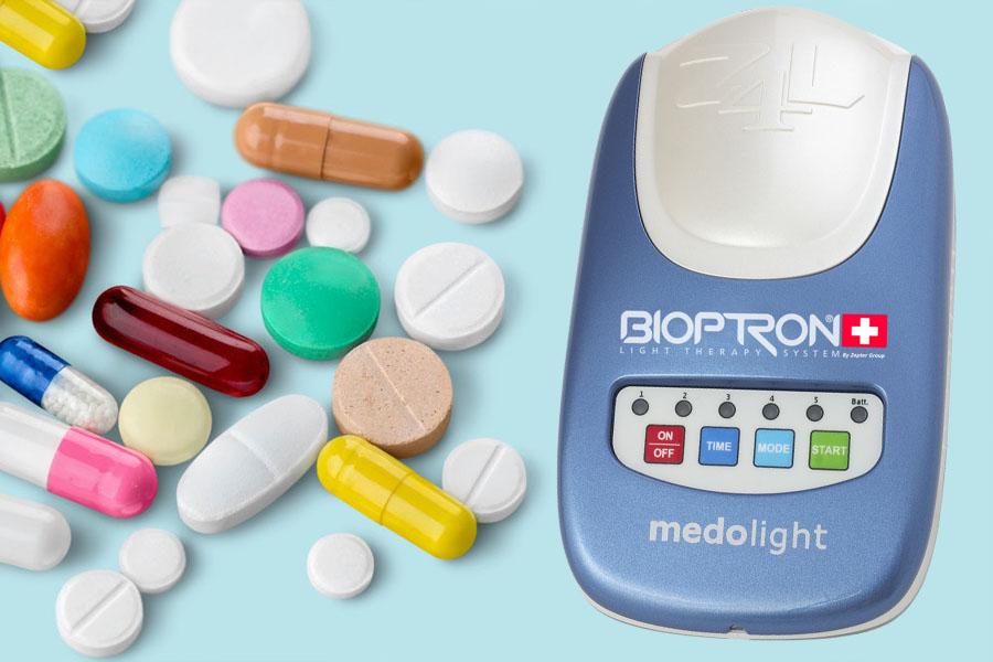 Влияние Medolight на действие антибиотиков